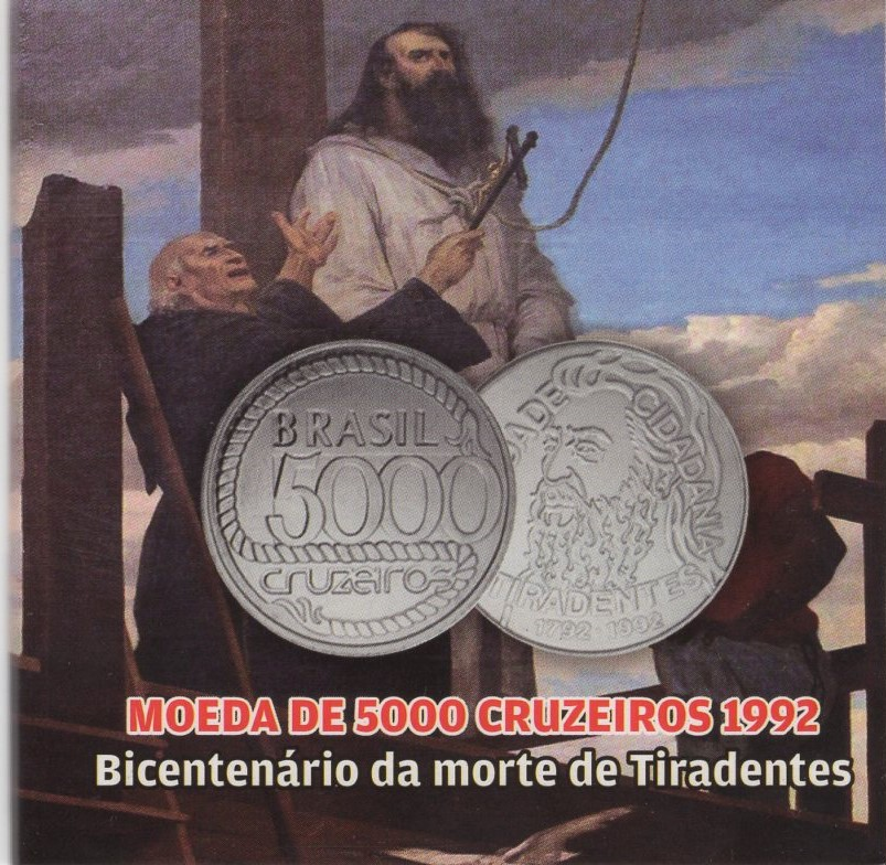 Cartela Comemorativa ao Bicentenário da Morte de Tiradentes