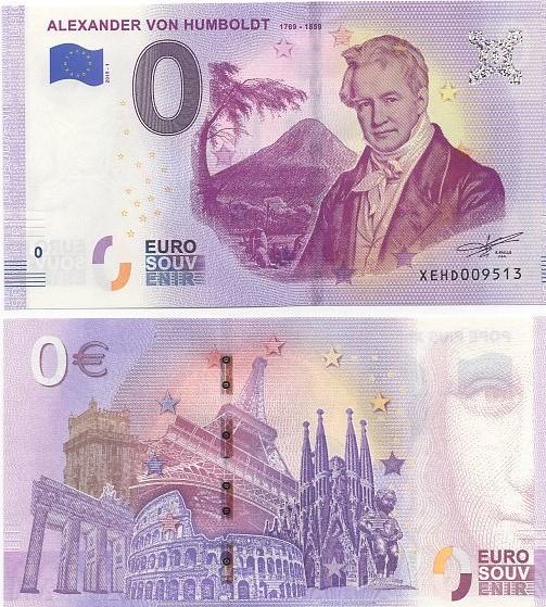 Cédula 0 Euro Alexander Von Hunboudt 1789-1859