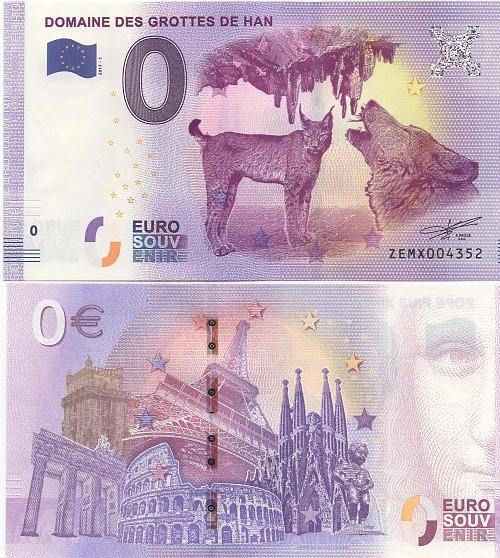Cédula 0 Euro Domaine des Grottes de Han- FE