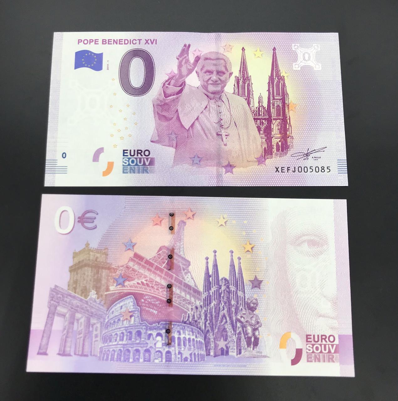 Cédula 0 Euro Papa  BENEDITO XVI