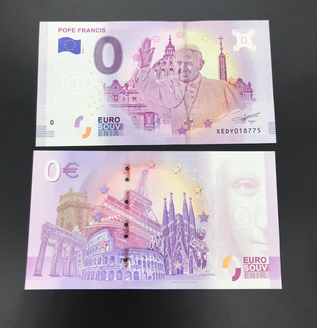 Cédula 0 Euro Papa Francisco