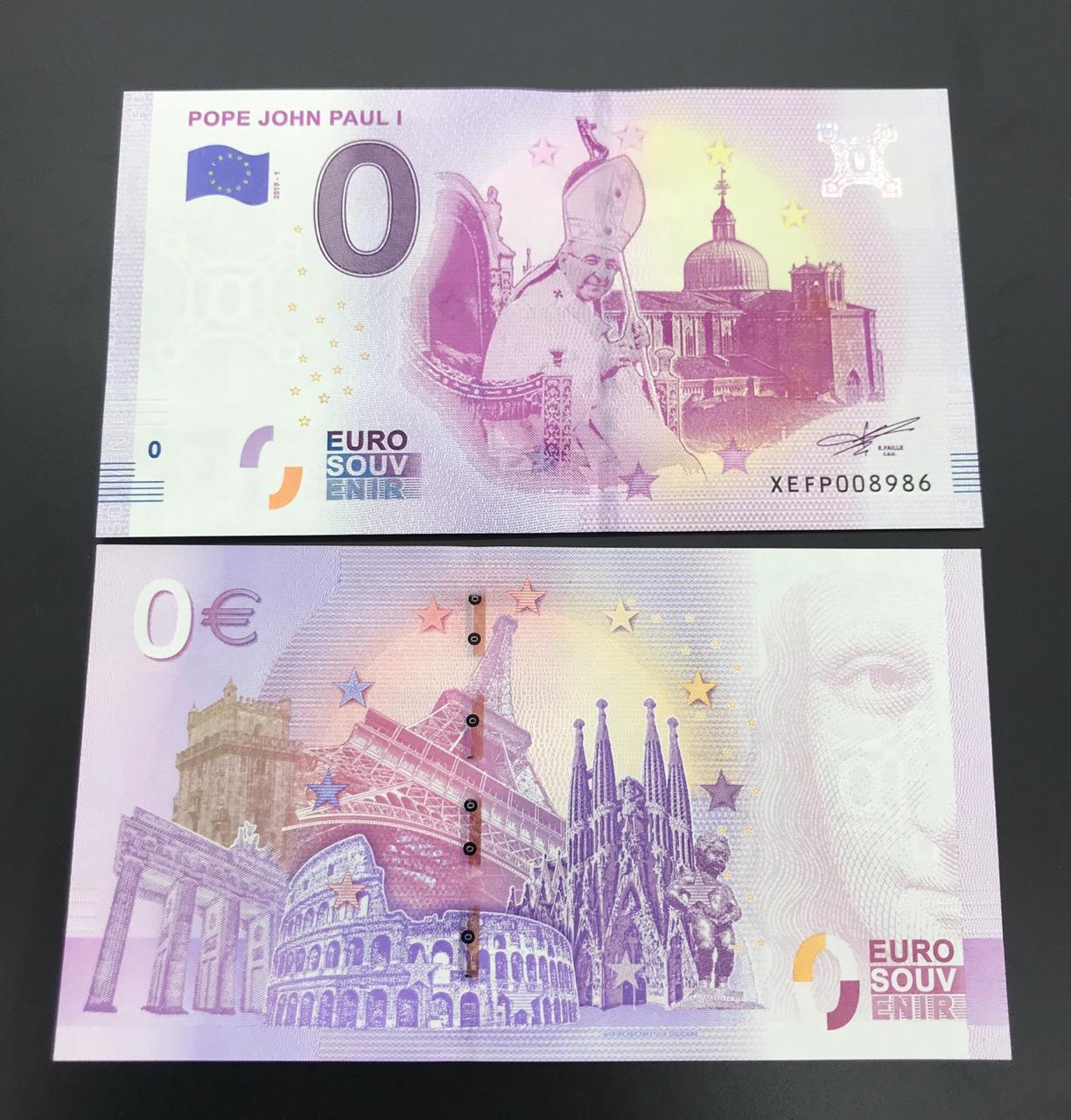 Cédula 0 Euro Papa JOÃO PAULO I