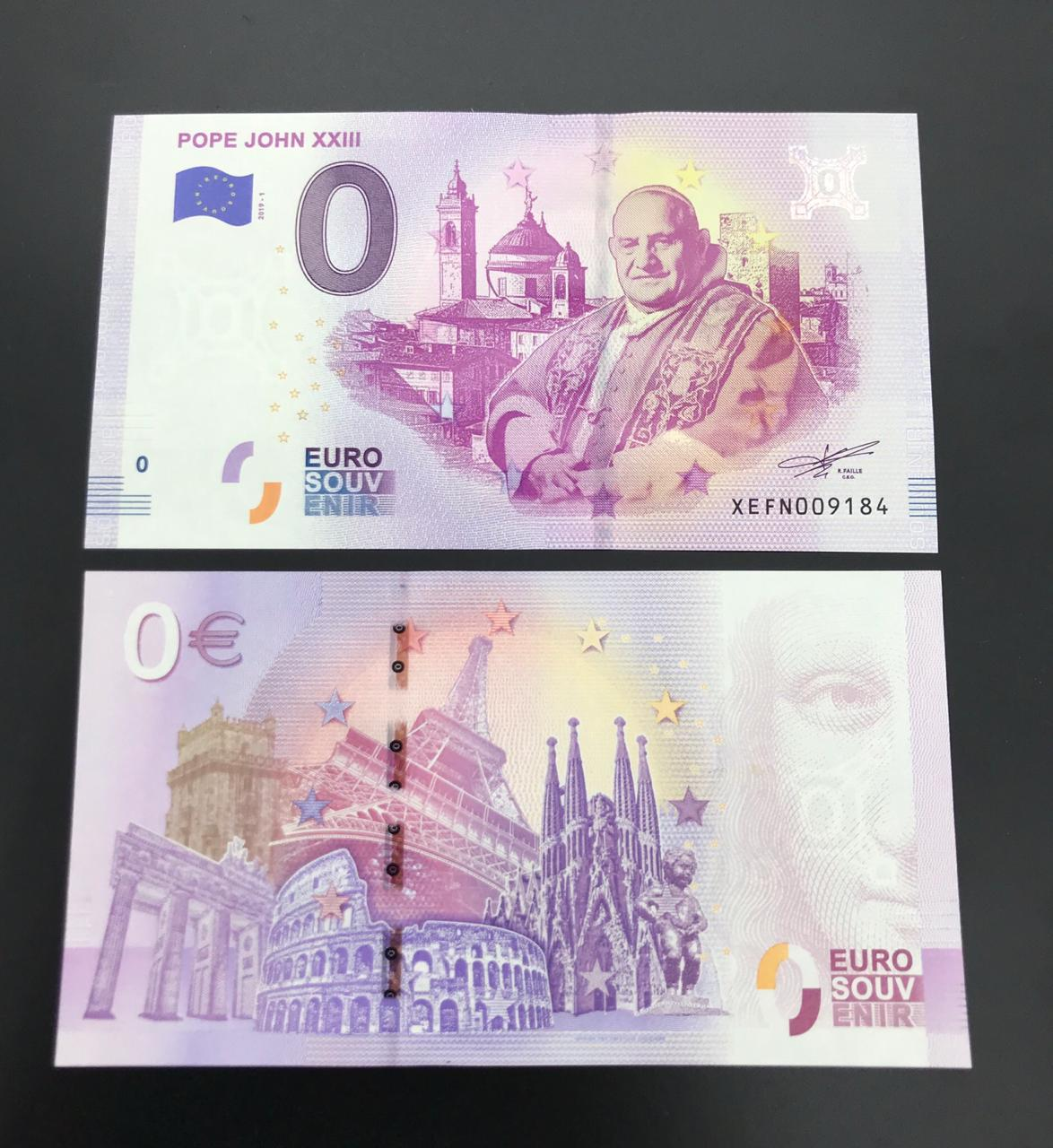 Cédula 0 Euro Papa JOAO XXIII