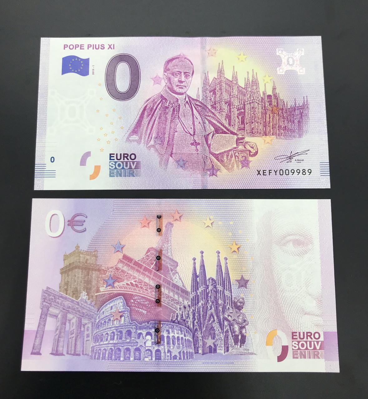 Cédula 0 Euro Papa PAULO XI
