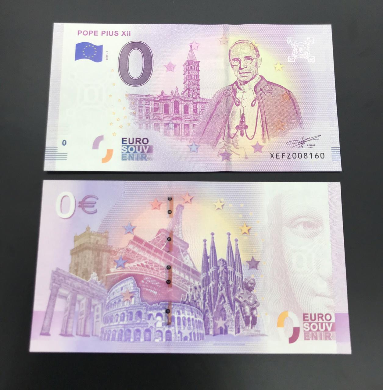 Cédula 0 Euro PAULO XII