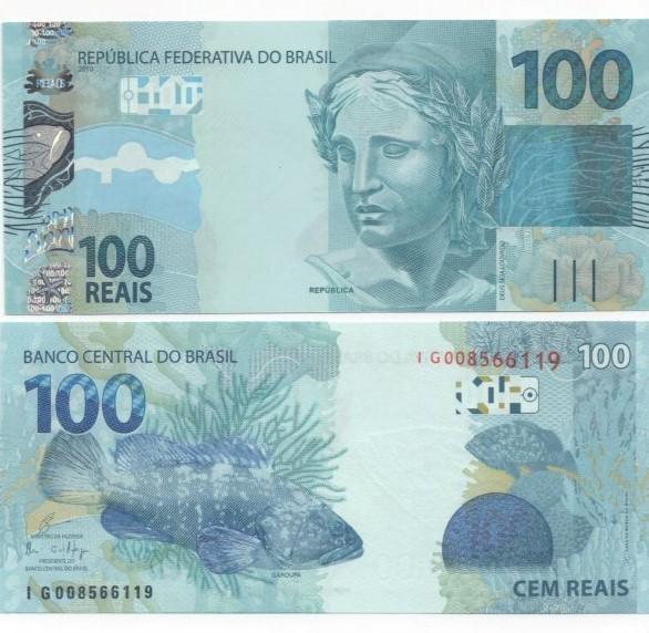 Cédula 100 Reais IG (Guardia/Ilan) FE