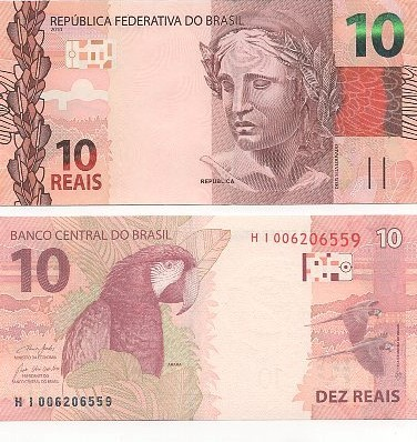 Cédula 10 Reais HI (Guedes/R.Campos) FE R$ 20,00