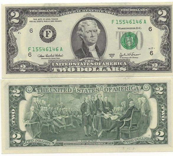 Cédula 2 Dollars 2003 FE