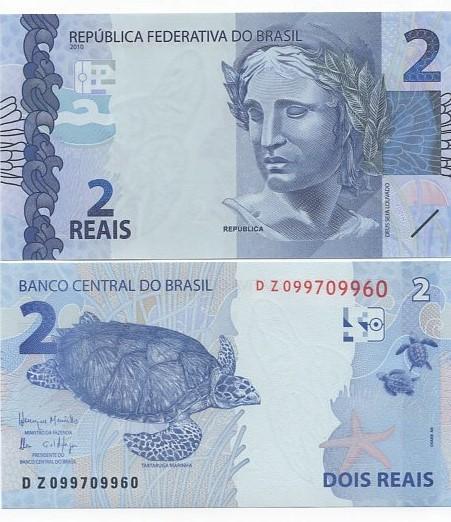 Cédula 2 Reais DZ  Henrique Meirelles/Ilan Goldfajn FE