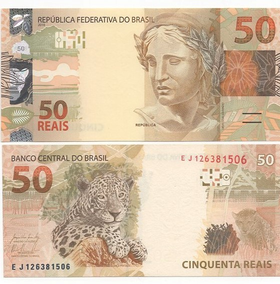 Cédula 50 Reais EJ (Levy/Tombini)