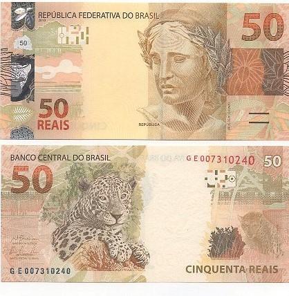 Cédula 50 Reais GE (Barbosa/Tombini) FE
