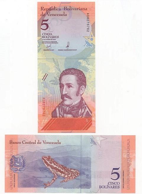 Cédula 5 Bolívares Venezuela Fauna FE