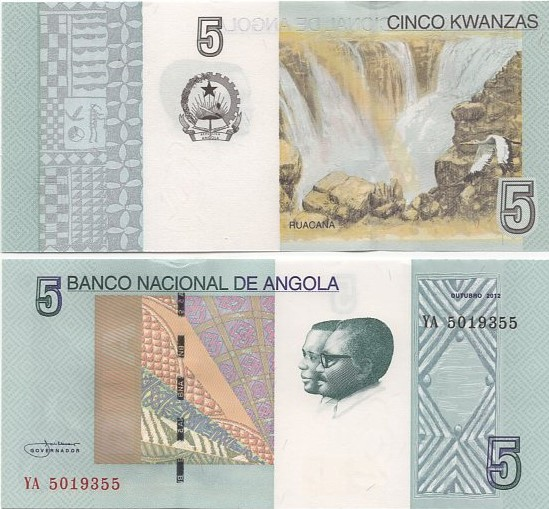 Cédula Angola 5 Kwanzas FE