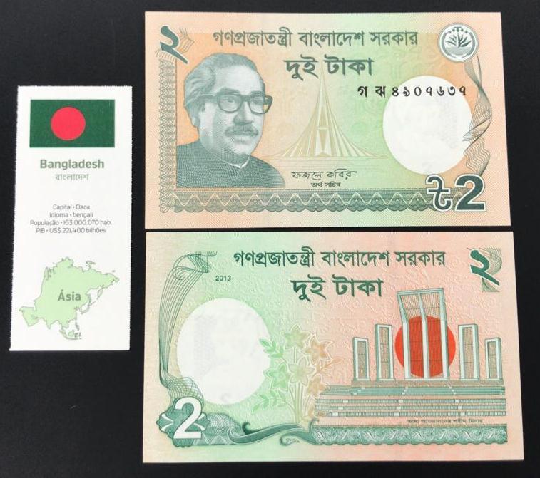 Cédula Bangladesh -Flor de Estampa