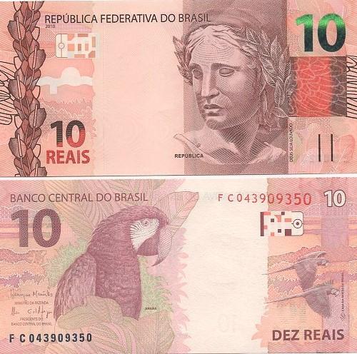 Cédula Brasil 10 Reais FC (Meirelles/Ilan) FE