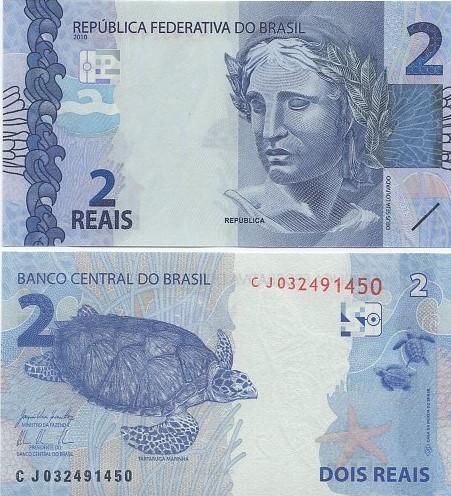 Cédula Brasil 2 Reais CJ (Levy/Tombini) FE