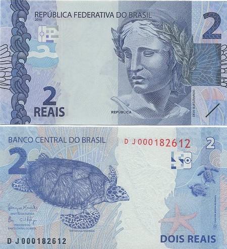 Cédula Brasil 2 Reais DJ (Meirelles/Ilan) FE