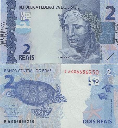 Cédula Brasil 2 Reais EA (Meirelles/Ilan) FE