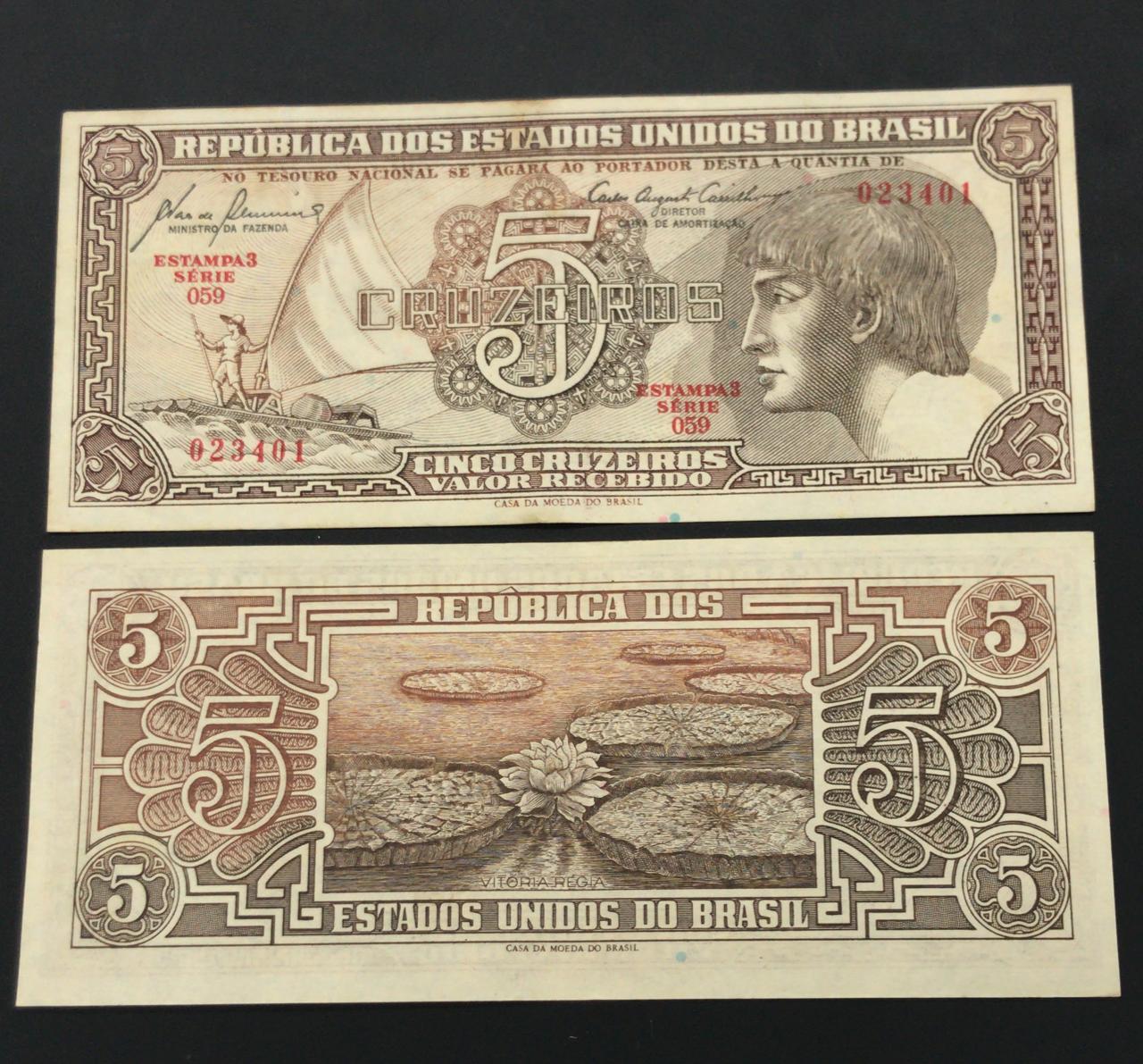 Cédula do Índio - 5 Cruzeiros (Soberba)