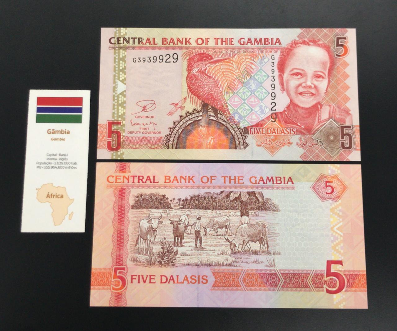 Cédula Gâmbia 5 Dalassis (FE)