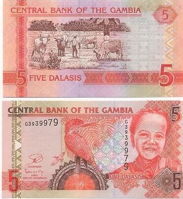 Cédula Gâmbia 5 Dalassis 2006  (FE)