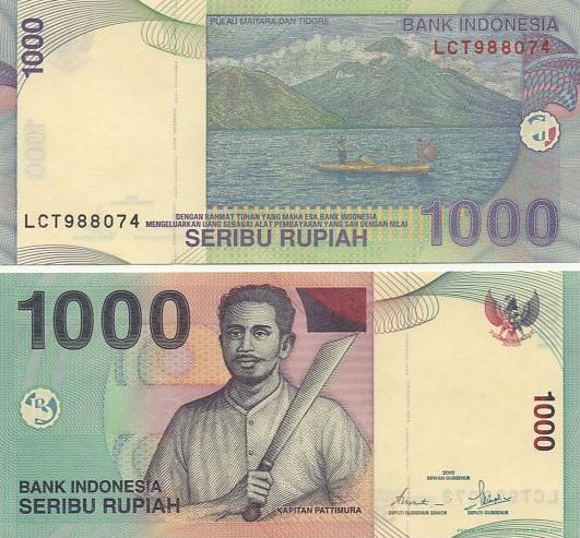 Cédula Indonésia 1000 Rúpias 2000 FE