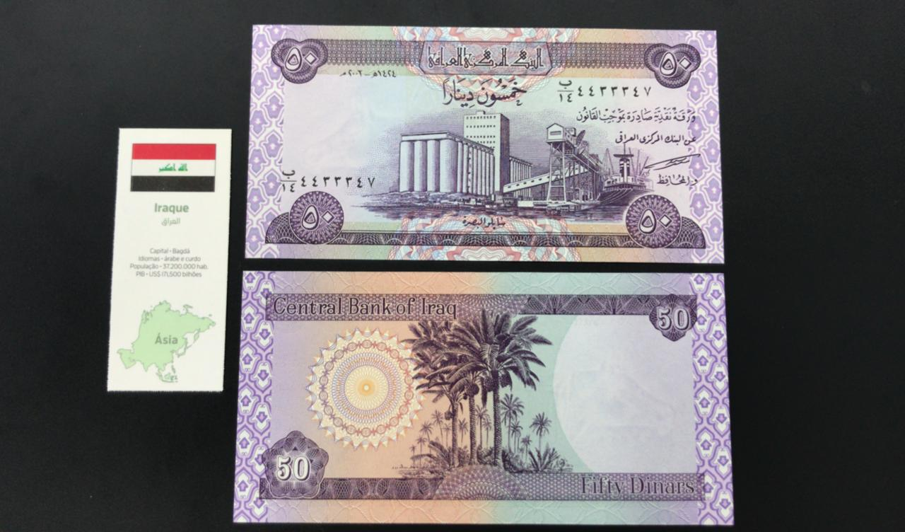 Cédula Iraque - Flor de estampa