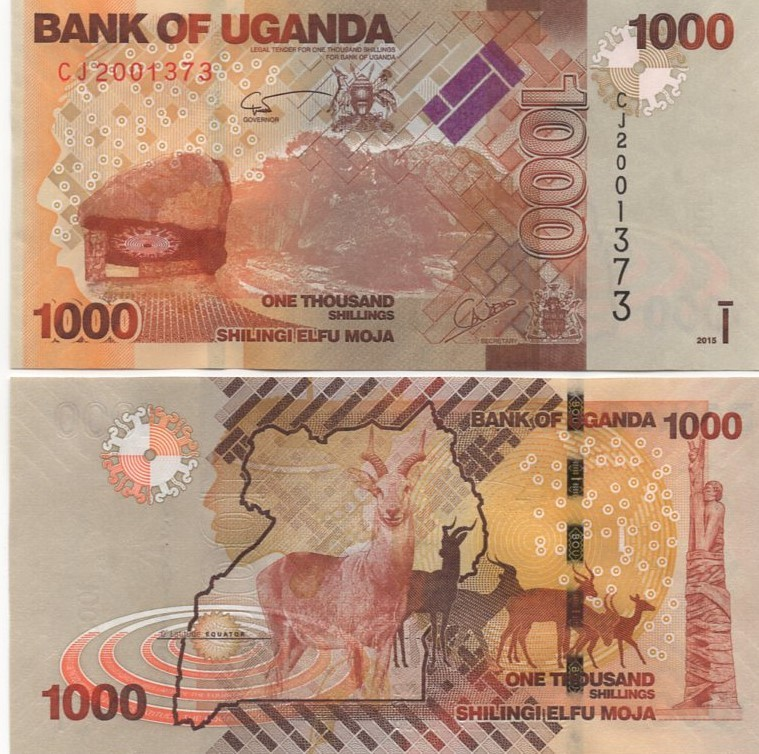 Cédula Uganda 1.000 Shillings