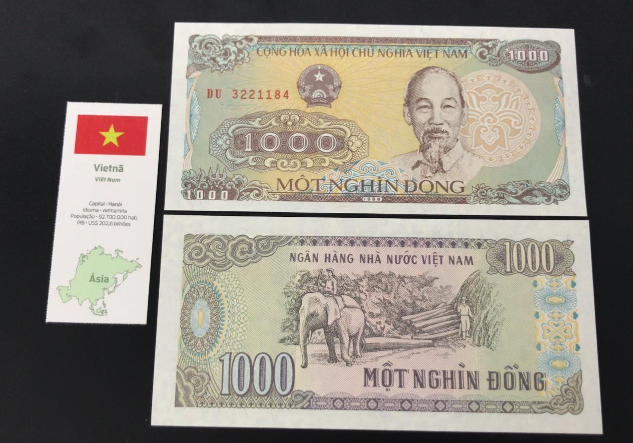 Cédula Vietnã - Flor de estampa