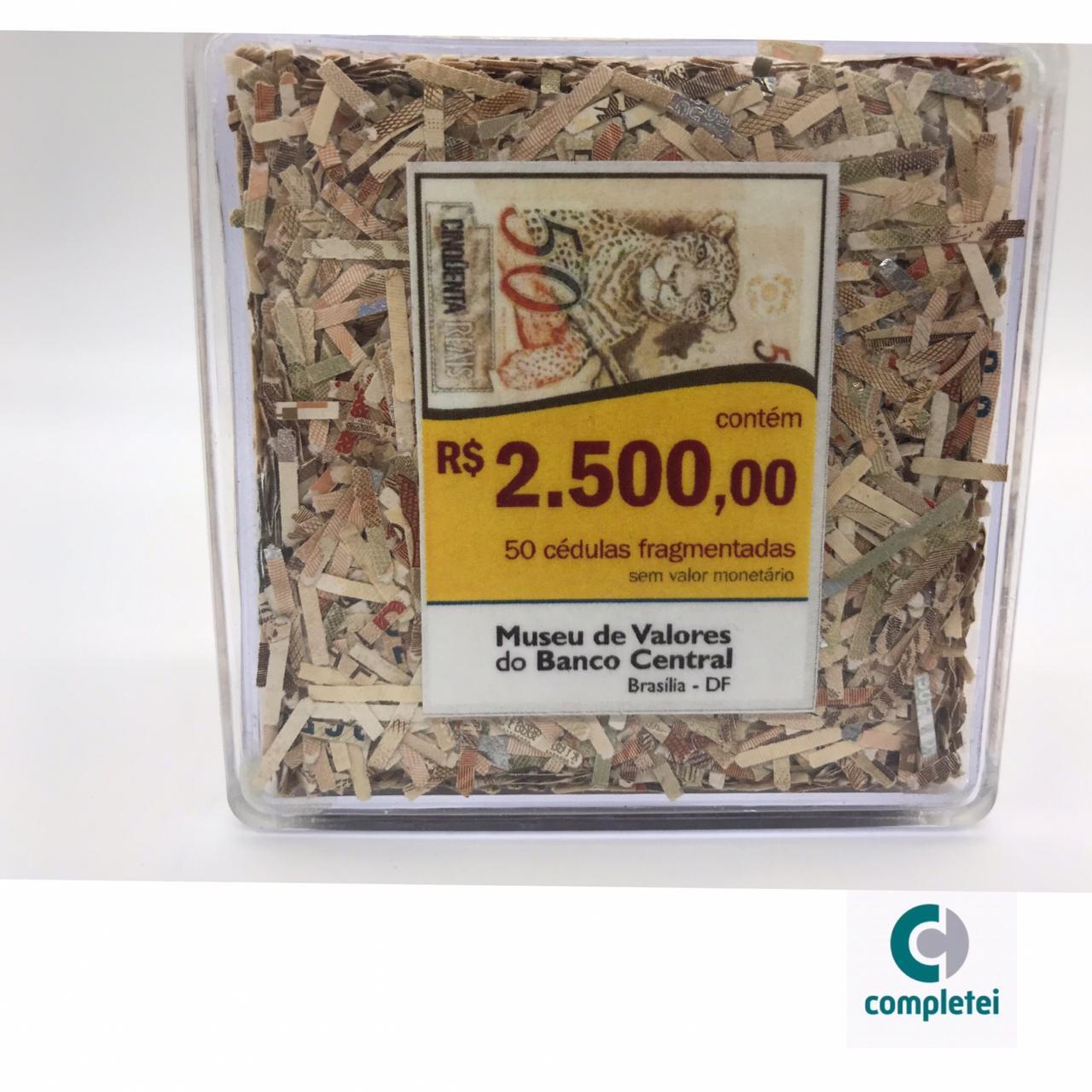 CEDULAS FRAGMENTADAS DE 50,00 ESPECIAL DO MUSEU DE VALORES DO BANCO CENTRAL