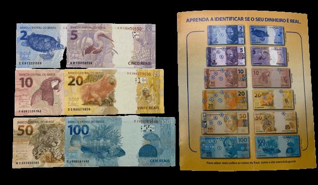 Conjunto de Cédulas FE  2° Família do Real + Folder do Banco Central do Brasil