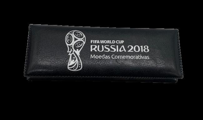 Estojo Completo com  Moedas Comemorativas Copa do Mundo Rússia 2018
