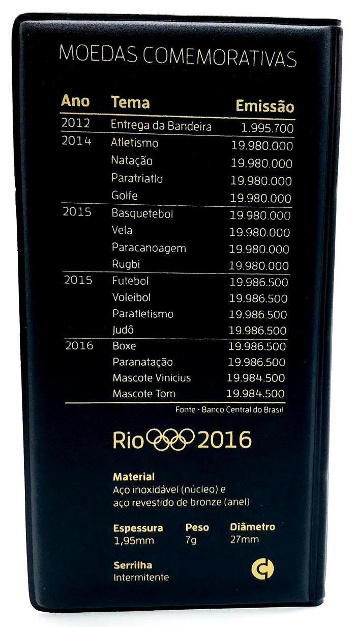 Estojo para Moedas das Olimpíadas Rio 2016