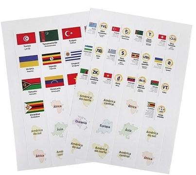 Etiquetas Moedas do Mundo EMDM