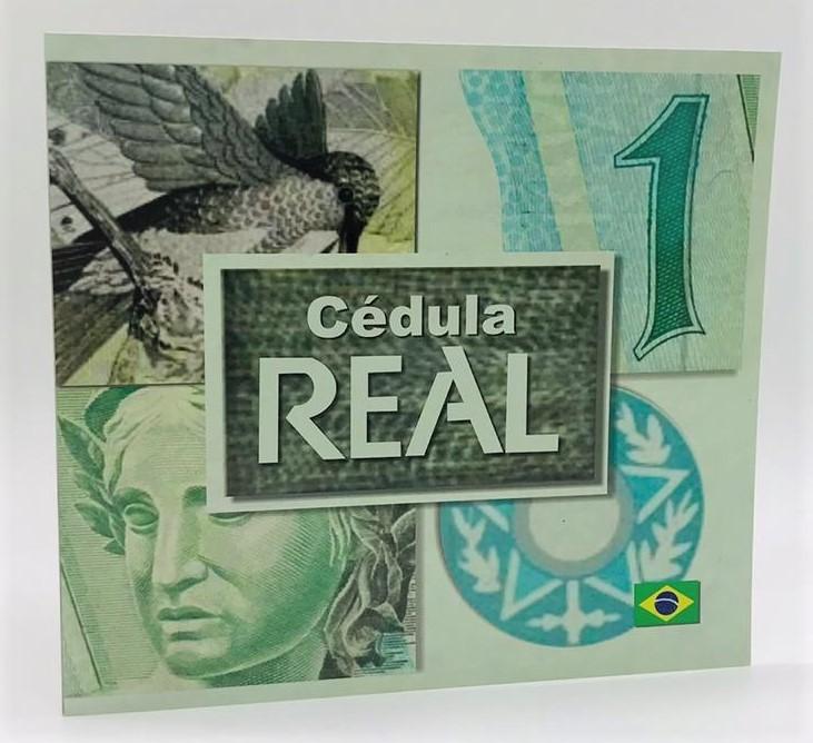 FOLDER + CÉDULA DE 1 REAL FE