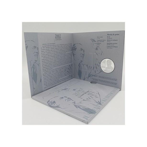 Folder com moeda Prata JK