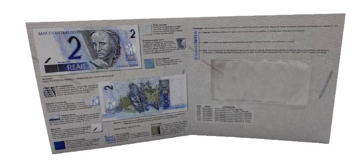 Folder Encarte para Cédula de 2 Reais - 1ª Família