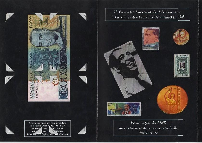 Folder Oficial da Associação Amigos do Museu de Valores do Banco Central em Homenagem ao JK Juscelino Kubitschek