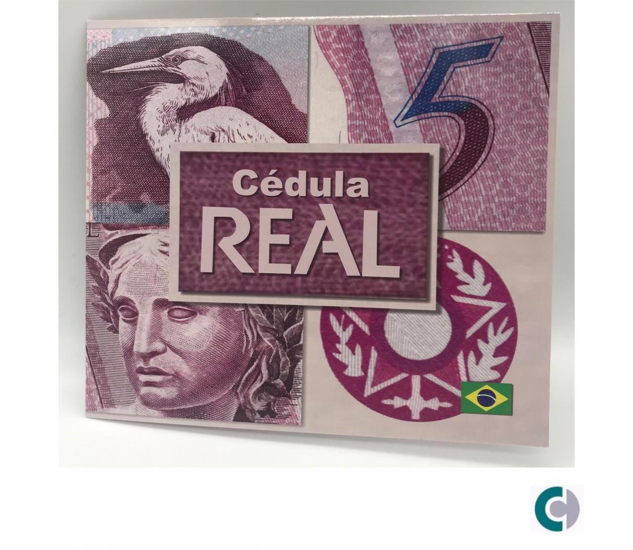 FOLDER PARA CEDULA DE 5 REAIS VAZIO