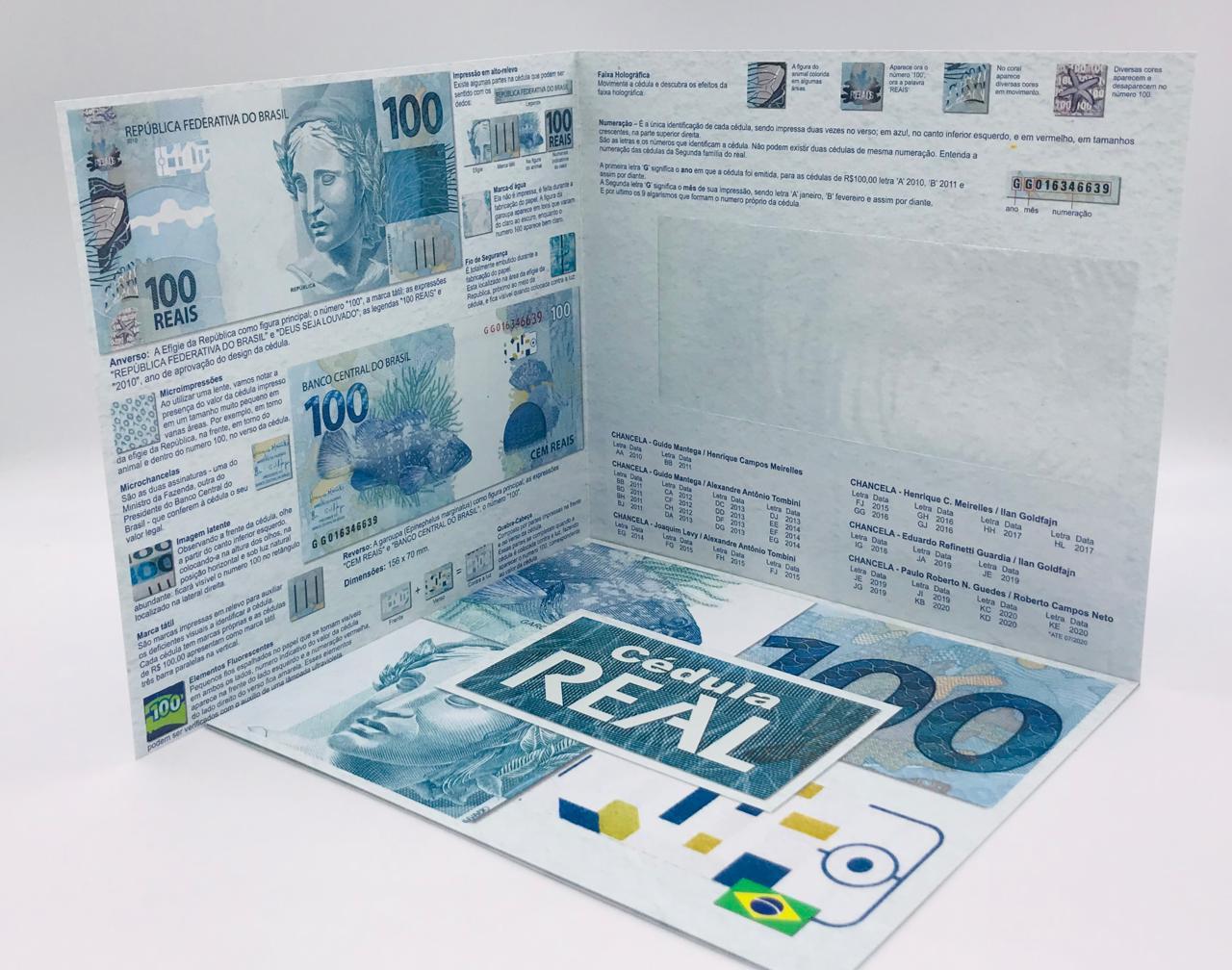 Folder Vazio para cédula de 100 reais Segunda Família