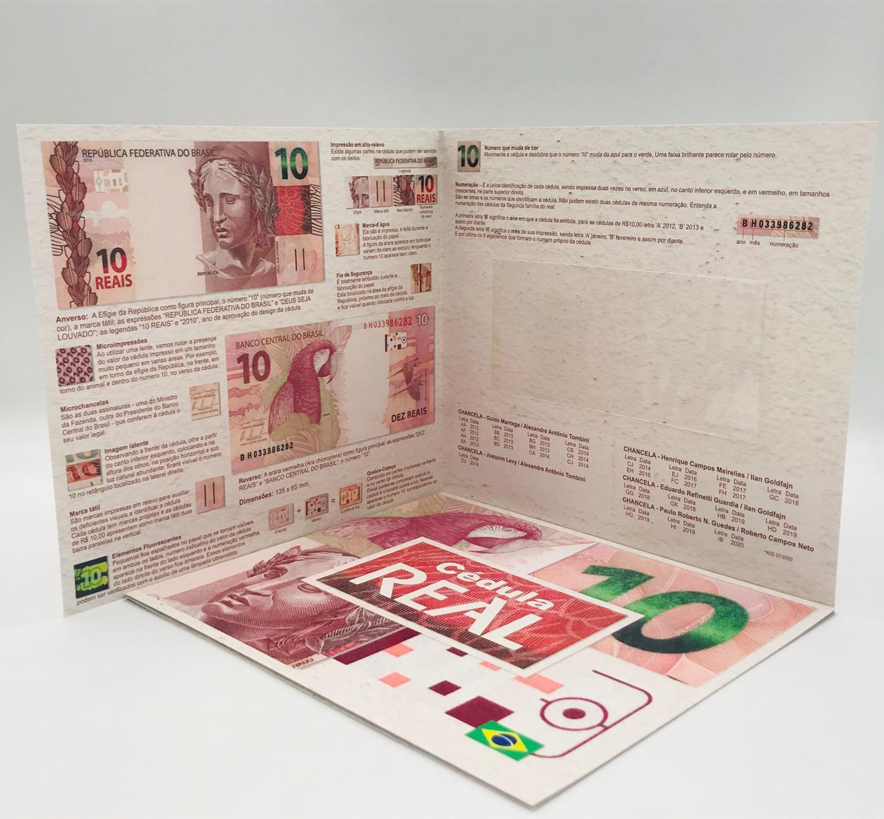 Folder Vazio para cédula de 10 reais Segunda Família