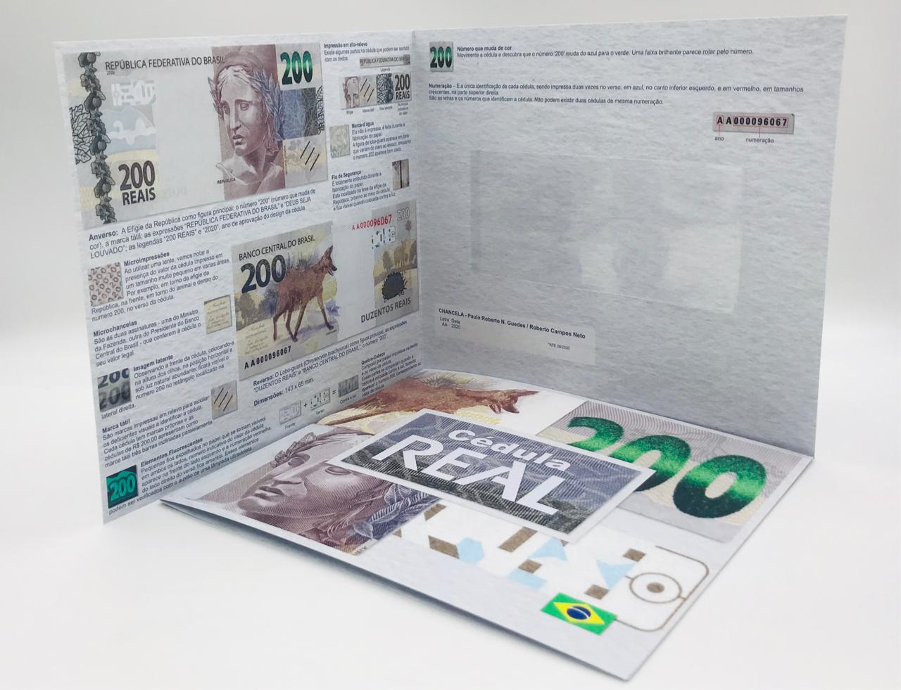 Folder Vazio para cédula de 200 reais Segunda Família