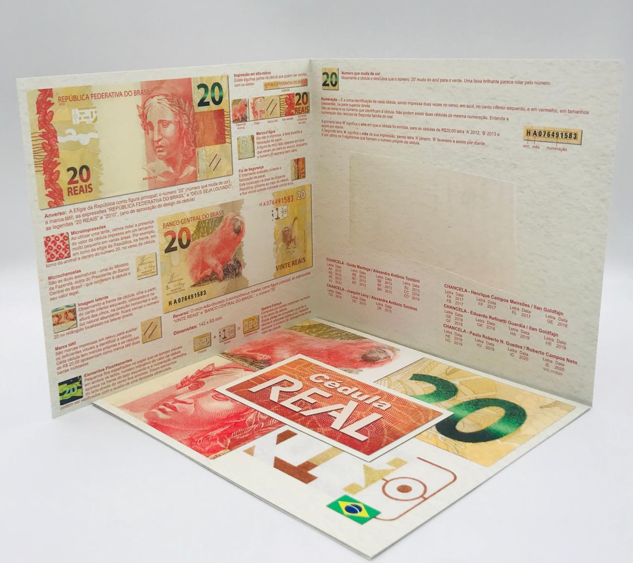 Folder Vazio para cédula de 20 reais Segunda Família