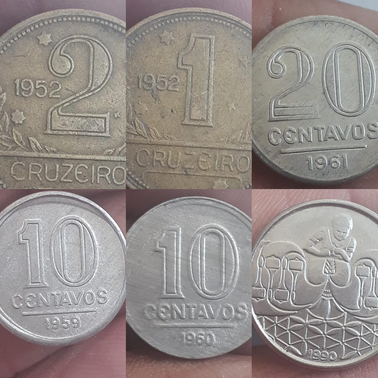 Lote de moedas Gilceia