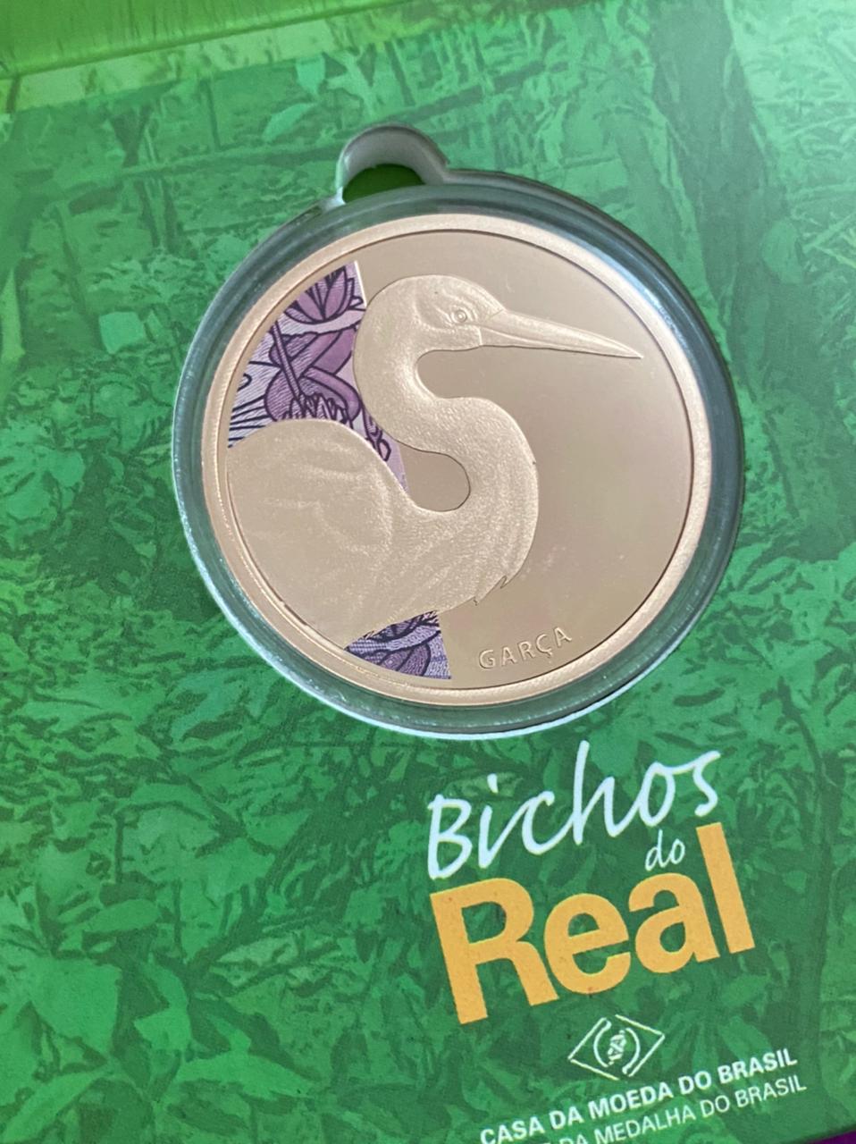 Medalha de Bronze Bichos do Real Garça-Branca-Grande (Oficial da Casa da Moeda do Brasil)
