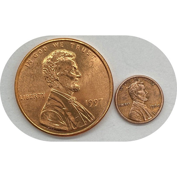 Mini Moeda One Cent  1964
