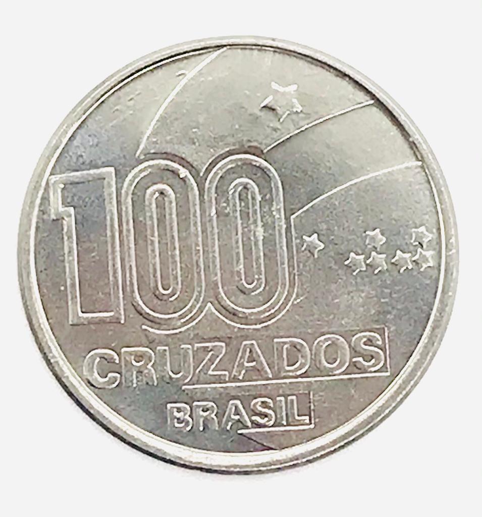 MOEDA 100 CRUZADOS AXÉ FILHO