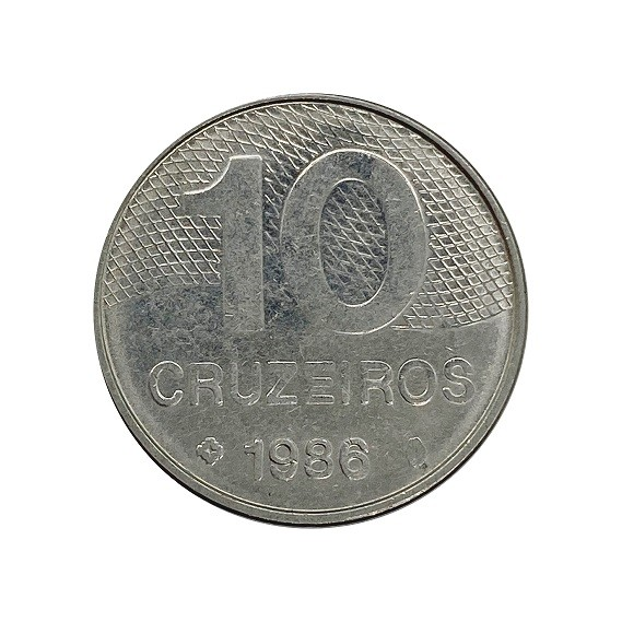 Moeda 10 cruzeiros 1986 MBC