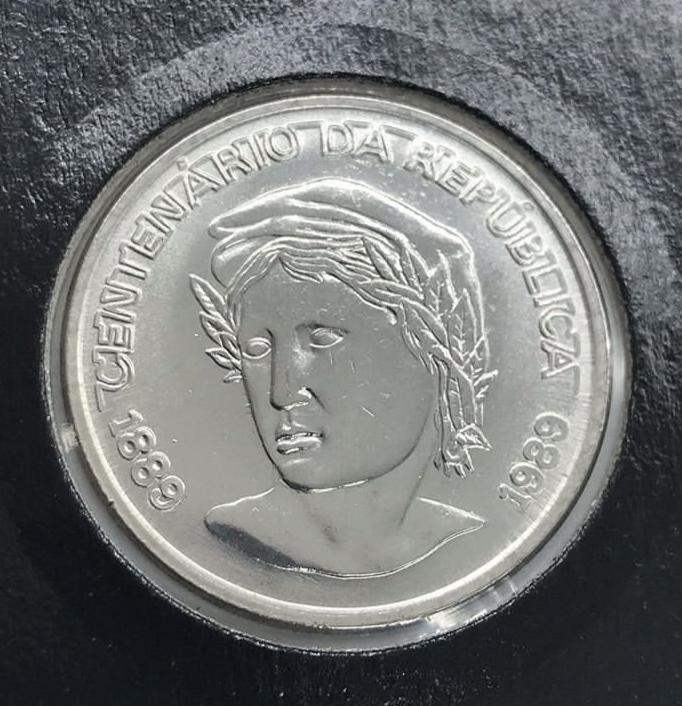 Moeda 1 Cruzado Novo - Centenário da República 1889-1989 (FC)
