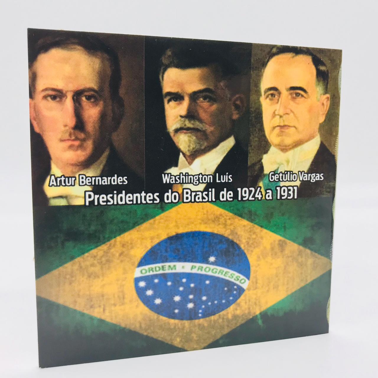 Moeda 2000 Réis 1924 (Prata) - com folder
